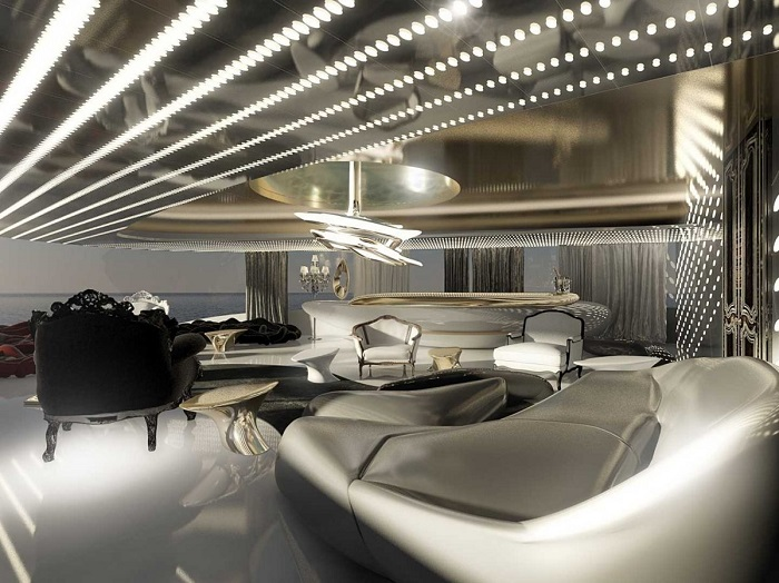Гостевая спальня на яхте
