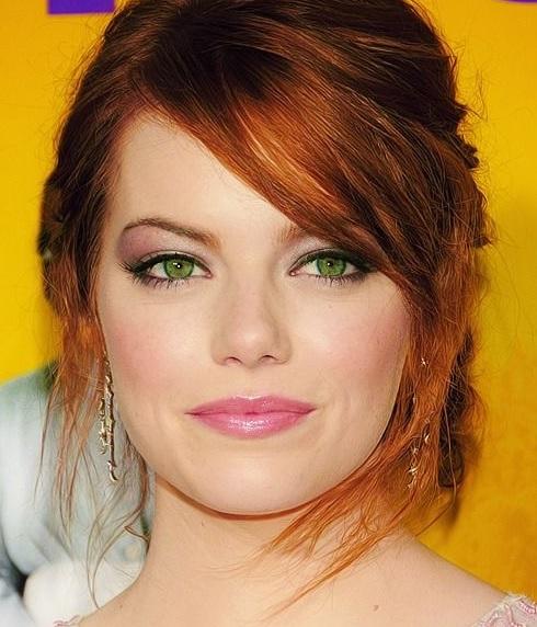 Эмма Стоун зеленые глаза